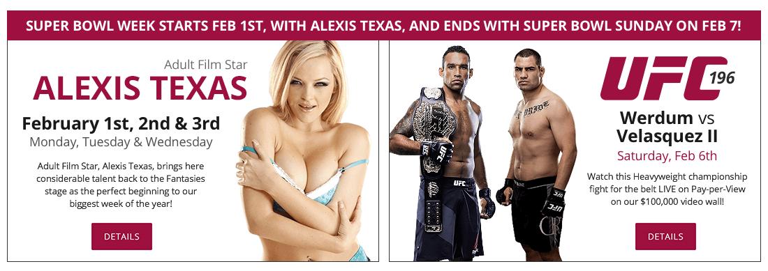 Alexis Texas & UFC 196