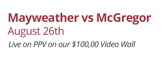 Mayweather vs McGregor - Aug 26