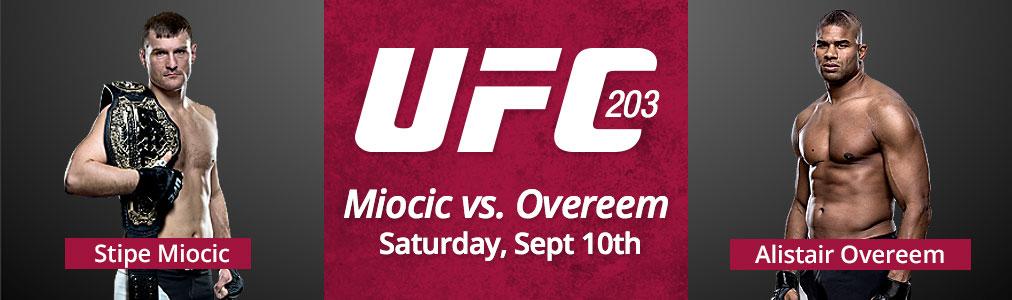 UFC 203: Miocic vs Overeem - Sept 10th
