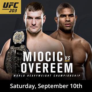 UFC 203 Miocic vs Overeem - Sept 10