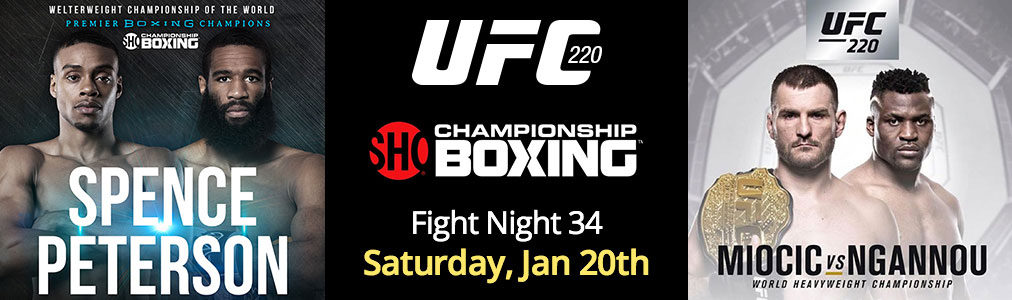 Fight Night 34 - Jan 20th